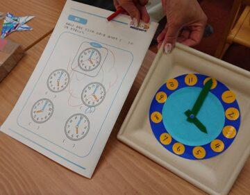 時計を作って「何時?」のお勉強!の画像